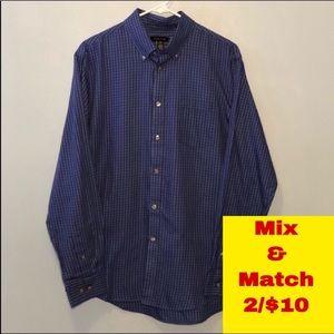 """Van Heusen Button Down Shirt Neck 15-15.5"""" Medium"""